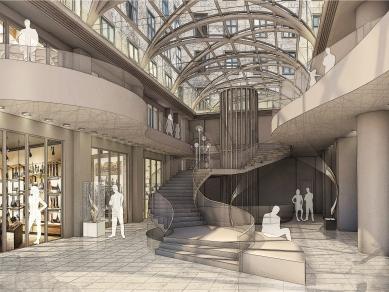 """Проект 66: Реконструкция на търговската част на ,,Корона Палас"""", Прага"""