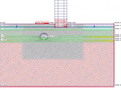 Проект 31: Числено моделиране на  участък от тунелна изработка при прокарване на трети метродиаметър на софийското метро.