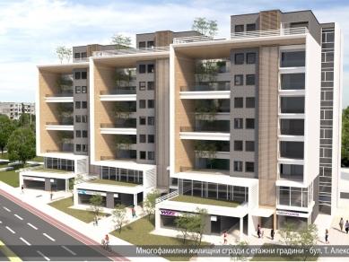 Проект 47: Многофамилни жилищни сгради с етажни градини, бул. Т. Александров, гр. София